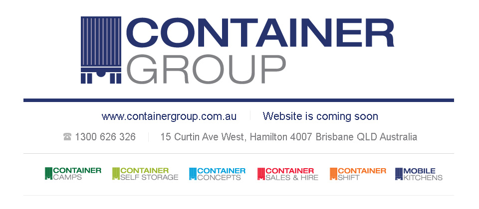 The Container Group Website is coming soon.